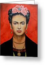 Frida Kahlo Greeting Card by Elena Day