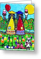 Friends Greeting Card by Jackie Carpenter