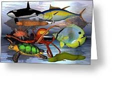 Friends Of The Sea Greeting Card by Betsy A  Cutler