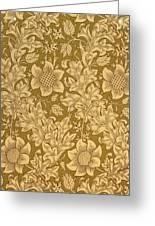 Fritillary Wallpaper Design Greeting Card by William Morris