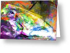 Frog Work Greeting Card by James Thomas