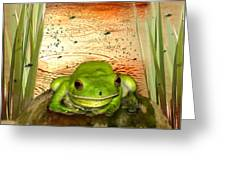 Froggy Heaven Greeting Card by Holly Kempe