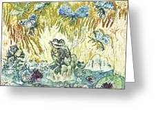 Frogs Greeting Card by Milen Litchkov