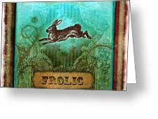 Frolic Greeting Card by Aimee Stewart