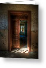 From A Door To A Window Greeting Card by Nathan Wright