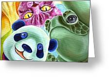 From Okin The Panda Illustration 9 Greeting Card by Hiroko Sakai