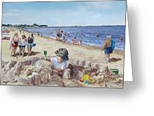 From Sandcastles To College Greeting Card by Jack Skinner