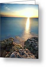 From The Sea Rocks Greeting Card by Eyzen Medina