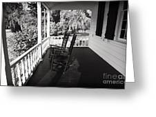 Front Porch Chairs Greeting Card by John Rizzuto