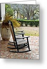 Front Porch Rockers Greeting Card by Scott Pellegrin