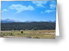 Front Range Rockies Greeting Card by Kay Pickens