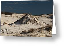 Frosty White Dunes Greeting Card by Adam Jewell