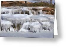 Frozen Falls Greeting Card by Jeff Kolker