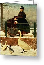 Frozen Out Greeting Card by George Dunlop Leslie