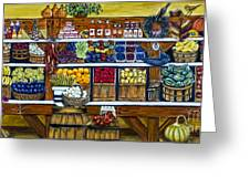 Fruit And Vegetable Market By Alison Tave Greeting Card by Sheldon Kralstein