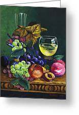 Fruit And Wine Greeting Card by Karon Melillo DeVega