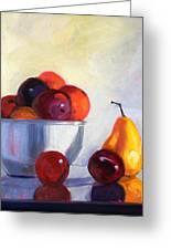 Fruit Bowl Greeting Card by Nancy Merkle