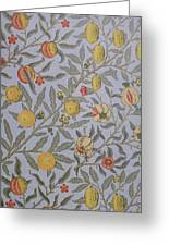 Fruit Design 1866 Greeting Card by William Morris