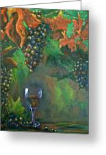 Fruit Of The Vine Greeting Card by Sandra Cutrer