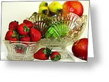 Fruit Still Life 1 Greeting Card by Margaret Newcomb