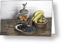 Fruit Still LIfe Greeting Card by Lesley Rigg