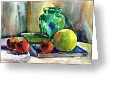 Fruits And Artbooks Greeting Card by Anna Lobovikov-Katz