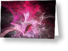 Fuchsia Fountain Abstract Greeting Card by Andee Design