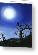Full Moon Greeting Card by Anastasiya Malakhova