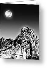 Full Moon Over The Suicide Rock Greeting Card by Ben and Raisa Gertsberg