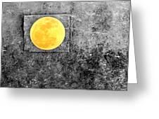 Full Moon Greeting Card by Rebecca Sherman