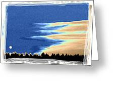 Full Moon Rising Greeting Card by Will Borden