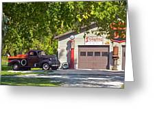 Full Service Please Greeting Card by Randy Rosenberger