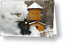 Full Steam Ahead Greeting Card by Ken Smith