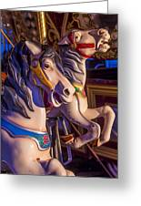 Fun Ride Carousel Horses Greeting Card by Garry Gay