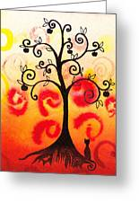 Fun Tree Of Life Impression Iv Greeting Card by Irina Sztukowski