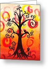 Fun Tree Of Life Impression V Greeting Card by Irina Sztukowski