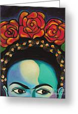 Funky Frida Greeting Card by Carla Bank