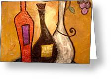 funky Vino 10 Greeting Card by Gino Savarino
