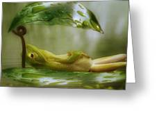 Funny Happy Frog Greeting Card by Jack Zulli