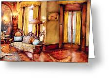 Furniture - Chair - The Queens Parlor Greeting Card by Mike Savad