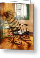 Furniture - Chair - The Rocking Chair Greeting Card by Mike Savad