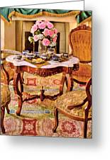 Furniture - Chair - The Tea Party Greeting Card by Mike Savad