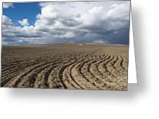 Furrows Before The Storm Greeting Card by Mike  Dawson