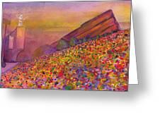Furthur At Redrocks 2011 Greeting Card by David Sockrider