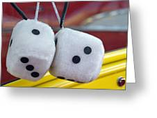 Fuzzy Dice Greeting Card by Charlette Miller