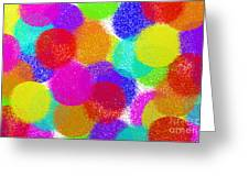 Fuzzy Polka Dots Greeting Card by Andee Design