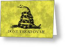 Gadsden Flag - Dont Tread On Me Greeting Card by World Art Prints And Designs