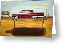 Galaxie In A Bottle Greeting Card by Leah Saulnier The Painting Maniac