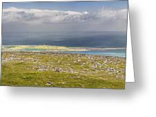 Galway Bay from Abbey Hill  Greeting Card by Michael David Murphy