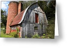 Gambrel-roofed Barn Greeting Card by Paul Mashburn
